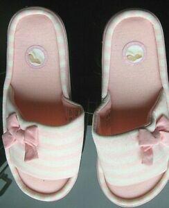 Ladies Pink Comfort Memory Foam Slip On Slipper New size 5/6 uk
