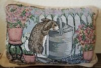 Easter Bunny Rabbit Small Pillow Garden Floral Decorative