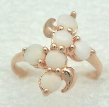 Opal Ring  Opale   925 Silber  Rot Vergoldet   STERLINGSILBER  Gr 54