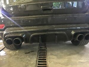 2011-2020 Jeep Grand Cherokee Rear Bumper's diffuser spoiler Quad exhaust tips