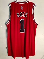 Adidas Swingman 2015-16 NBA Jersey Chicago Bulls Derrick  Rose Red sz M