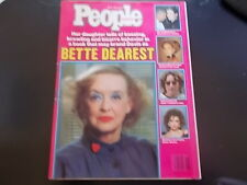 Bette Davis, John Lennon, Emma Samms - People Magazine 1985