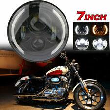 "1PCS 7"" Motorcycle Headlight LED Turn Signal Light For Harley Cafe Racer Touring"