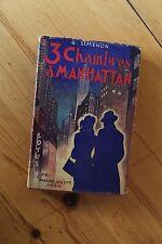 Edition Originale SIMENON 1946 3 Chambres à Manhattan avec sa jaquette couleur