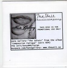 (FF877) Hate Gallery, The Idiots - DJ CD
