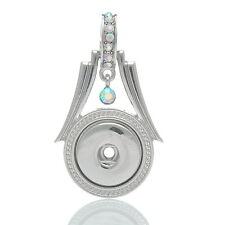 1 Diamant AB Strass Anhänger für Druckknopf Click Buttons DIY 5.5x3.3cm FL