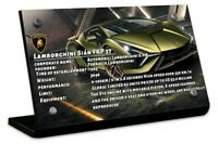 Display plaque  for LEGO Lamborghini Sián FKP 37 42115 (AUS Top Rated Seller)