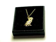 Greek owl of Athena 22C Gold plated English Pewter pendant