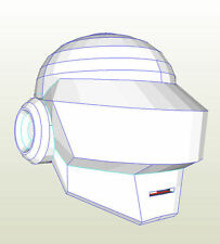 Daft Punk (Gort) Helmet (pre cut) Pepakura card Cosplay or prop