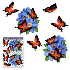 Blue Frangipani Plumeria Flower Butterfly Car Stickers St047bl3 Australia Made