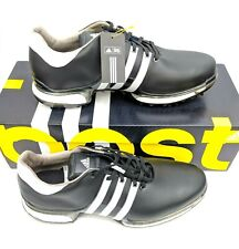 Adidas Tour 360 2.0 Mens US 13 Wide Black Waterproof Golf Shoes Boost UK 12.5