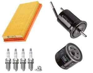 Service Kit Fits Kia Rio DC 1.5 16v FWD Air Oil Fuel Filter Bosch Spark Plugs