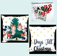 Disney Primark MICKEY-MINNIE MOUSE Countdown to Christmas Cushion Pillow Decor