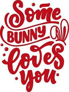 Window Wall Vehicle Display Happy Easter Bunny Type Decal Vinyl Sticker 004