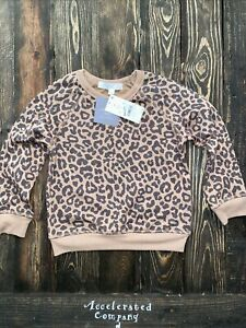Grayson Mini Baby Girls Toddler 4T Leopard Brown Sweater