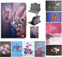 "Universal Cartoon Case PU Leather Cover For Samsung Galaxy 7""inch Tab tablet PC"