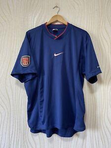 ARSENAL LONDON 1999 2000 TRAINING FOOTBALL SHIRT SOCCER JERSEY NIKE sz XL