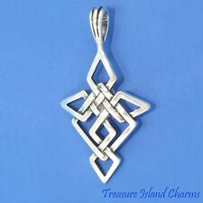 CELTIC ENDLESS  KNOT CROSS  .925 Solid Sterling Silver Pendant MADE IN USA