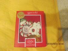 Lenox China Cat Picture Frame Magnet/Ornament New
