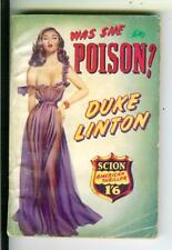 WAS SHE POISON? by Duke Linton, British Scion gangster crime gga pulp vintage pb