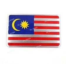 Car/Motorcycle Decal Malaysia Flag Decor Sticker 3D Aluminum Alloy Emblem Badge