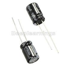 100Pcs 1000uF 10V 105°C Radial Electrolytic Capacitor 8x12mm NEW