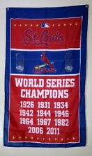 St Louis Cardinals Banner 3x5 Ft Flag World Series Man Cave Decor Baseball MLB