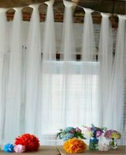 IKEA LILL Sheer Curtains White Mesh Wedding Party Drapes 10 Panels