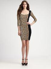 Wild Sexy JUST CAVALLI by Roberto Cavalli Leopard Print Stretchy Dress S