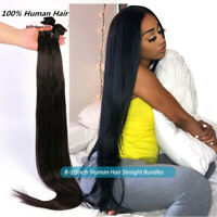 Peruvian Human Hair Weave 3 Bundles Straight 8-30 Inch Natural Color Extensions