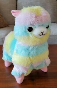 NWT Amuse Rainbow Alpacasso Alpaca Round 1 One Plush Animal UFO Catcher Prize