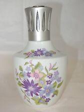 Lampe BERGER à décor de fleurs signée PILLIVUYT AS Porcelaine / Complète