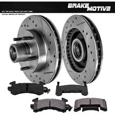 Front Drill & Slot Brake Rotors & METALLIC Pads For Chevy S-10 Jimmy Sonoma 2WD