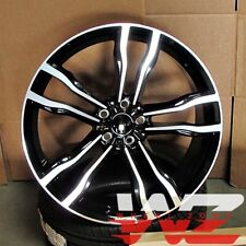 """20"""" 612 Style Staggered Wheels fits BMW X5 X6 X5M X6M Gloss Black/Machined Face"""