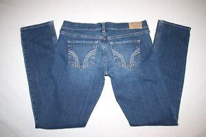 Hollister Laguna Skinny Stretch Blue Jeans Women Girls 5 S 27x31 NEW