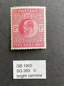 GB 1902 SG 263 KEVII 5' MNH stamp