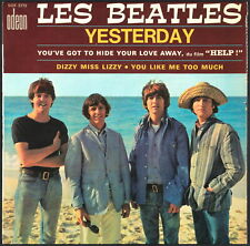 THE BEATLES - 1965 France EP 45 tours Odeon 3772