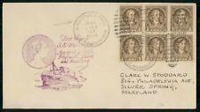 SS Washington 1933 US German Sea Post cover wwi 3601