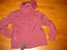 BURTON women's snowboard jacket ski coat parka maroon S small hood heavy warm