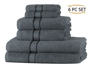 100% Cotton 580 GSM Towels Set - Bath Hand Face - Super Soft by Sweet Needle
