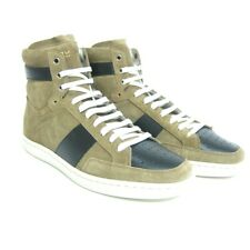 P-821139 New Saint Laurent Otterproof Wolly Tan High Top Sneaker Size 41 US 8