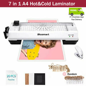Blusmart Hot&Cold A4 Laminator 7-in-1 Laminator Trimmer/Corner Rounder/20 Pouch