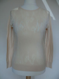 REISS Nessa Sheer Detail Jumper Pearl Peach RRP £95.00! VERY PRETTY*