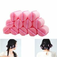 Love Curl Hair? 12 pcs Soft Pink Foam Hair Rollers Curlers, Birthday Gift 1.8cm