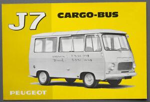 Prospekt Peugeot J 7 Cargo Bus von 1969