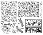 Unmounted Rubber Stamps Sheets, Dragonfly Stamps, Dragonflies, Frogs, Nature