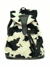 BACKPACK  ANIMAL PRINT COW PATTERN WITH ADJUSTABLE HANDLE, WHITE &BLACKNEW, RARE