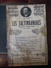 Partition Les Saltimbanques Louis Ganne Opéras Comique