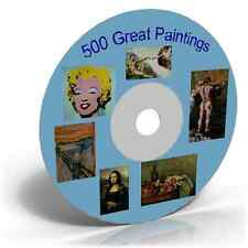 500 Great Paintings Famous Artists Old Images Craft CD