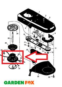 Genuine Hayter Power Trim Wheeled Strimmer CUTTER HEAD 407C/S/D MU770037 1148